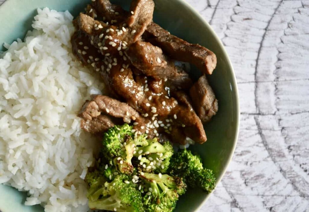 Gluten and Dairy Free Beef & Broccoli  Bowls