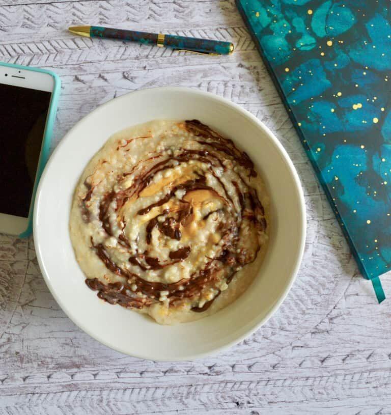 peanut butter chocolate porridge