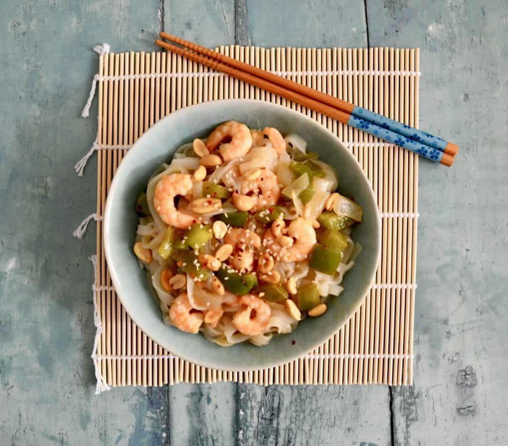 Gluten & Dairy Free Kung Pao Prawn Noodles
