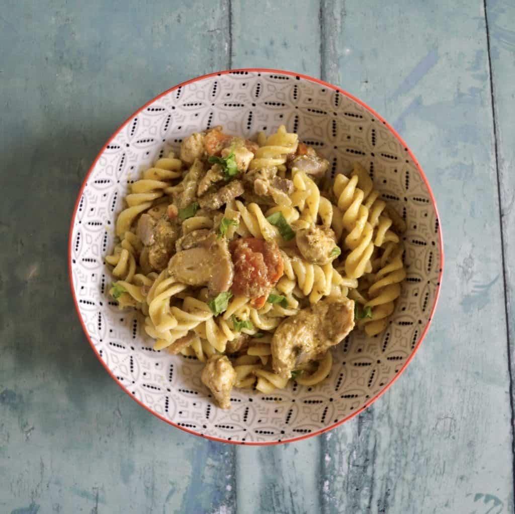 Gluten & Dairy Free Creamy Pesto Chicken Pasta