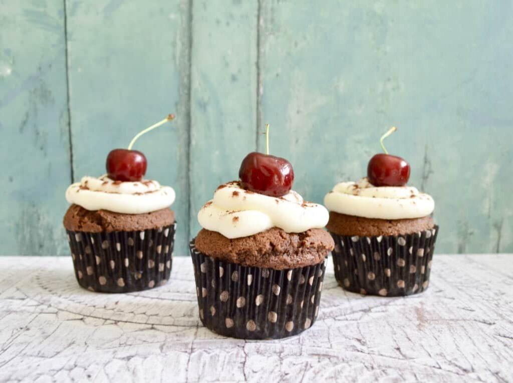 Gluten & Dairy Free Black Forest Cupcakes