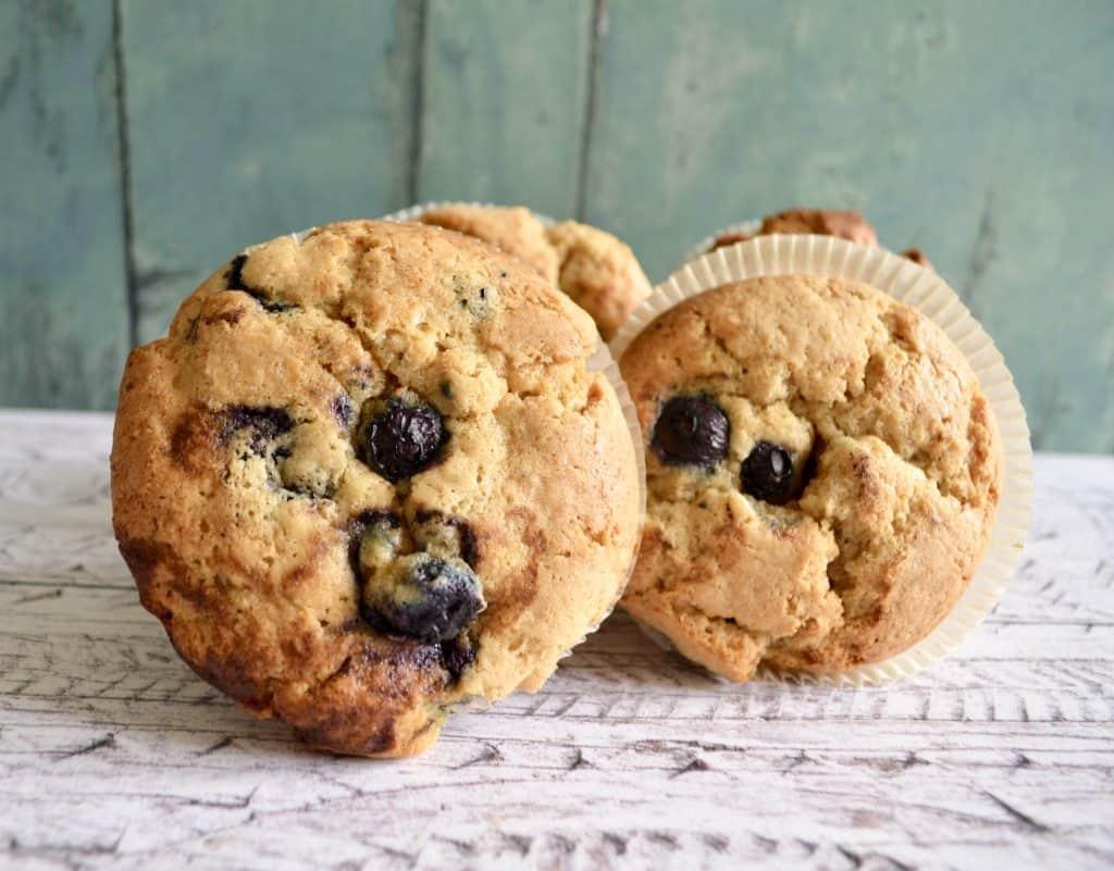 Gluten & Dairy Free Blueberry Peanut Butter Muffins