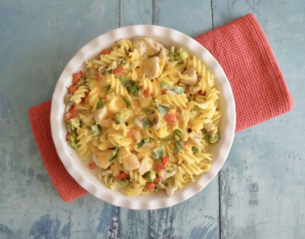 Gluten and Dairy Free Chicken & Vegetable Pasta Bake
