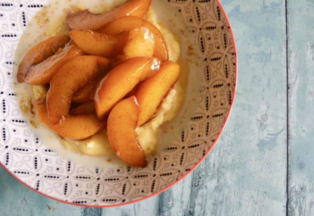 peach polenta