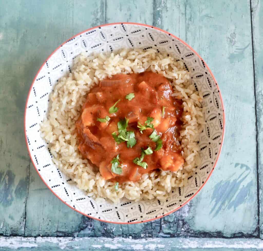 Gluten and Dairy Free Spicy Tomato Prawns