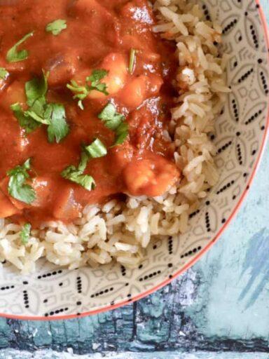 spicy tomato prawns