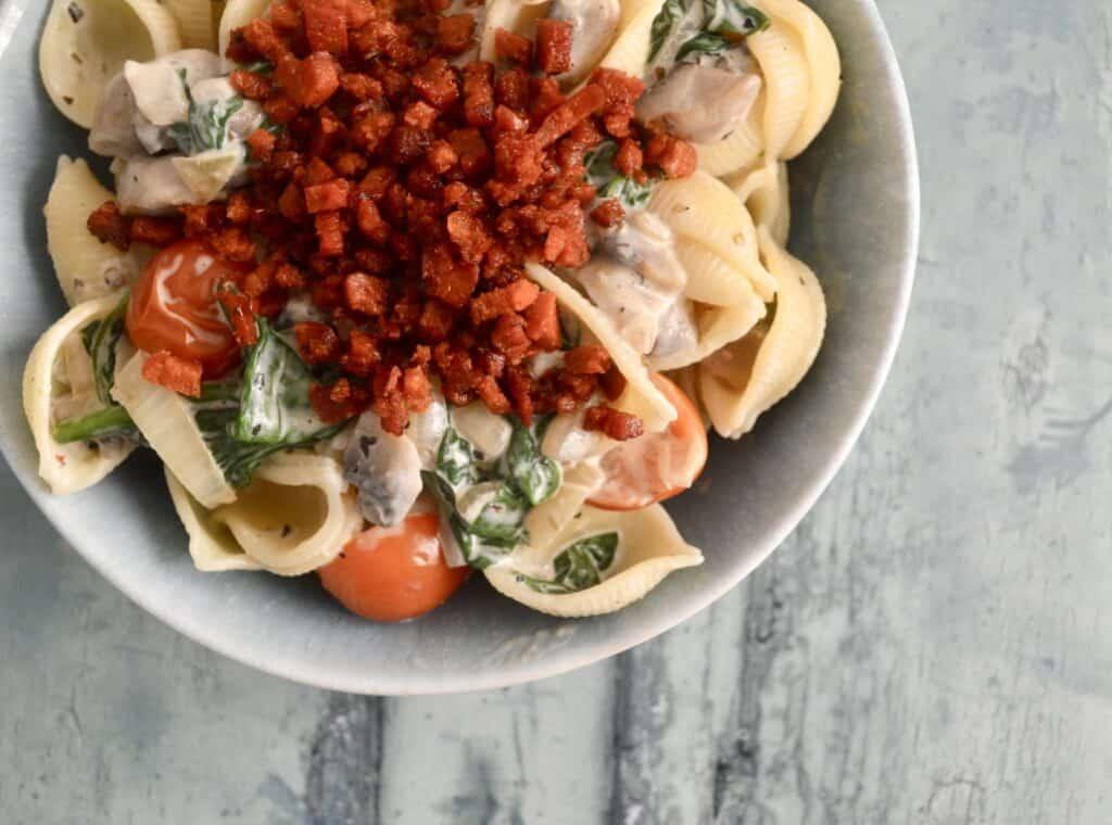 mushroom chorizo pasta