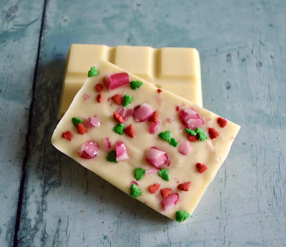 Gluten and Dairy Free Candy Cane Chocolate Bars