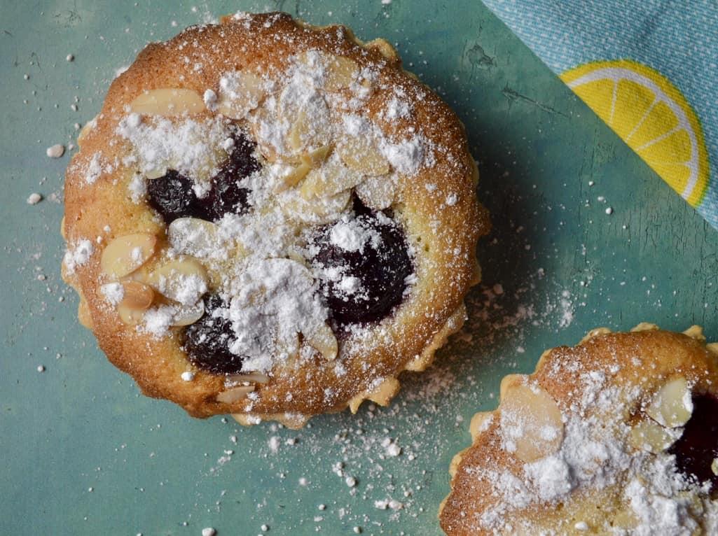 Gluten and Dairy Free Cherry Frangipane Tarts