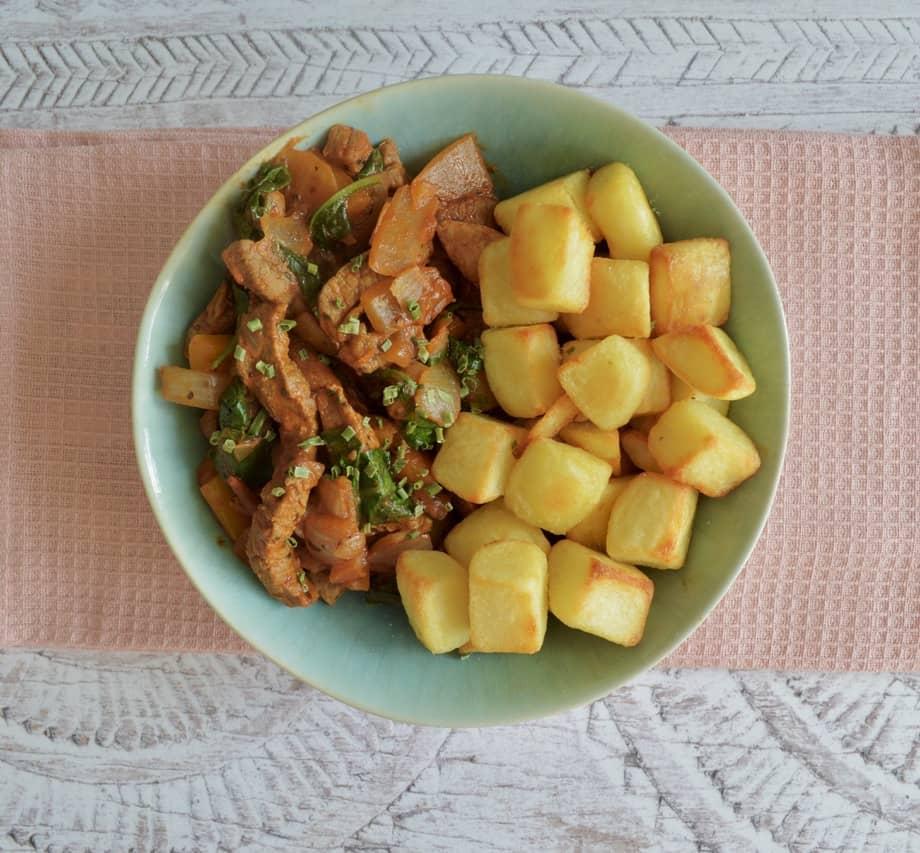 Gluten & Dairy Free Paprika Beef & Crispy Potato Bowls