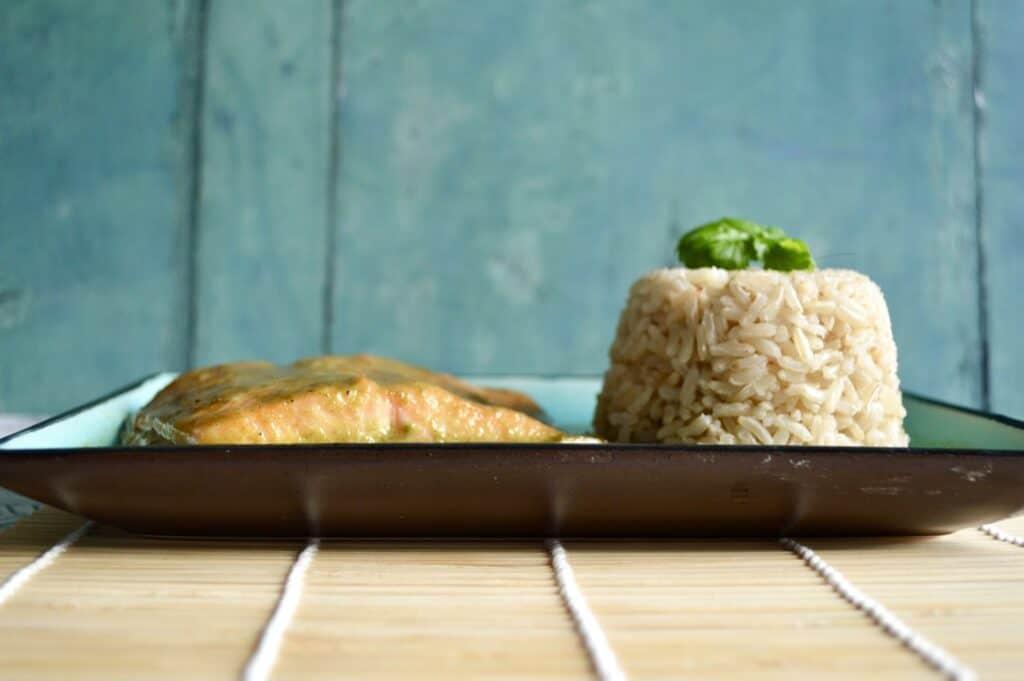 coriander coconut salmon