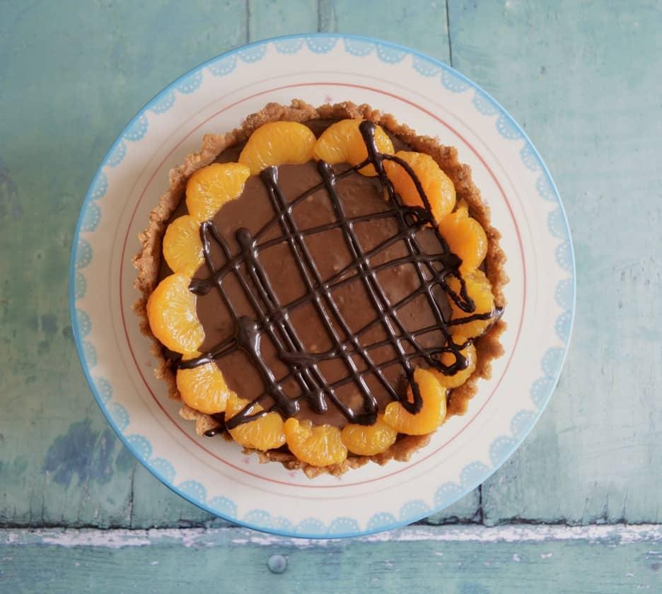 Gluten and Dairy Free Chocolate Orange Tart