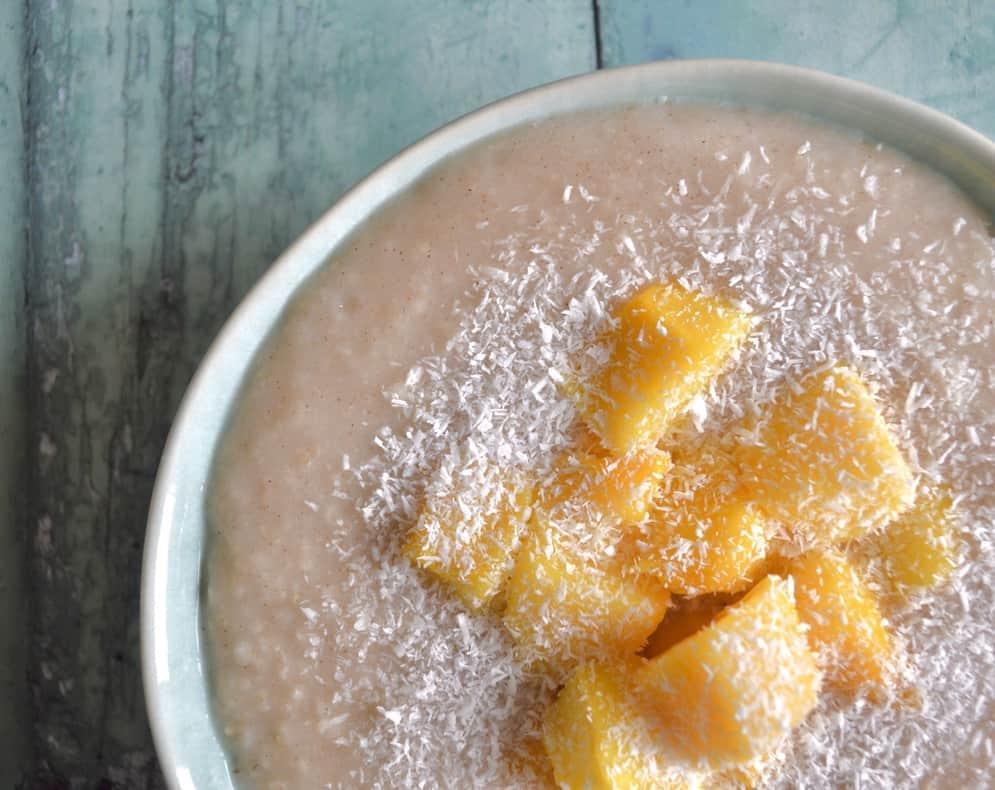 coconut mango porridge