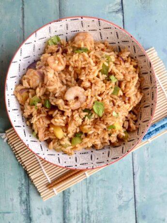 prawn mango fried rice