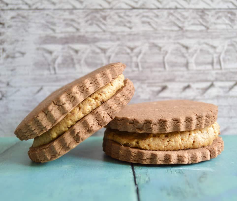 choc pb sandwich cookies