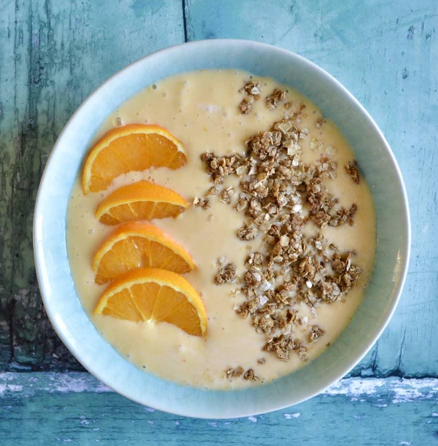 creamy orange smoothie bowl