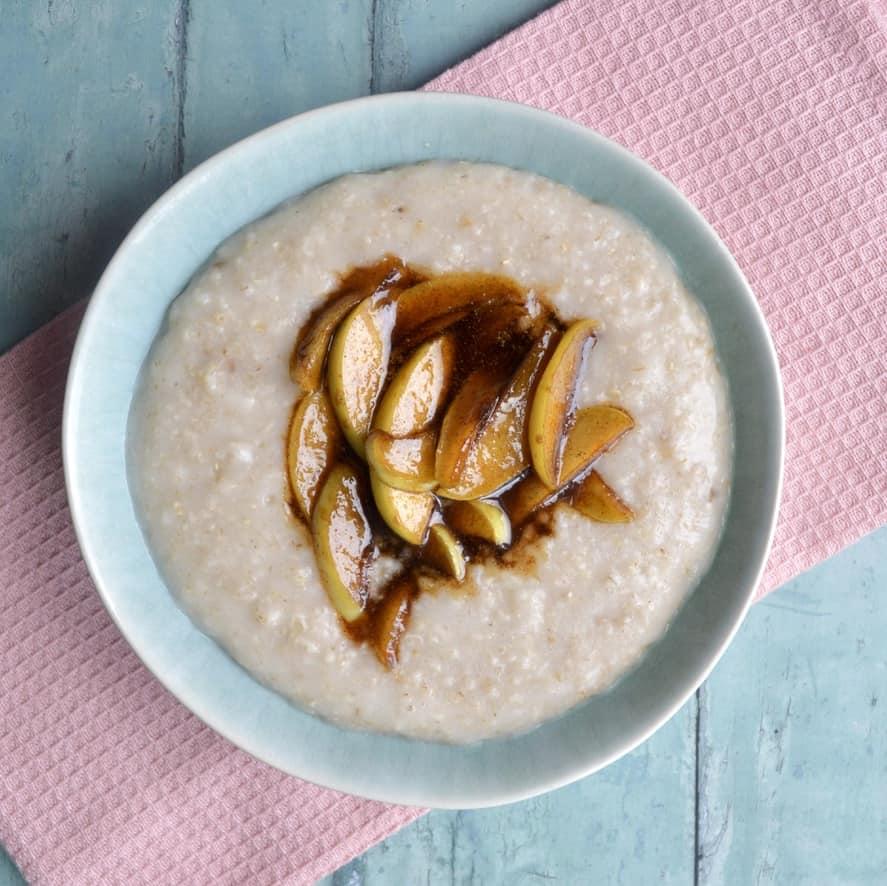 caramelised apple porridge