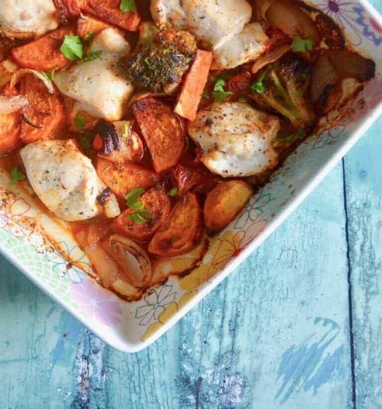 chicken sweet potato bake