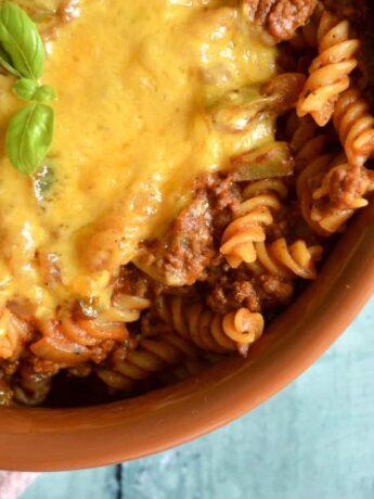 chilli beef pasta