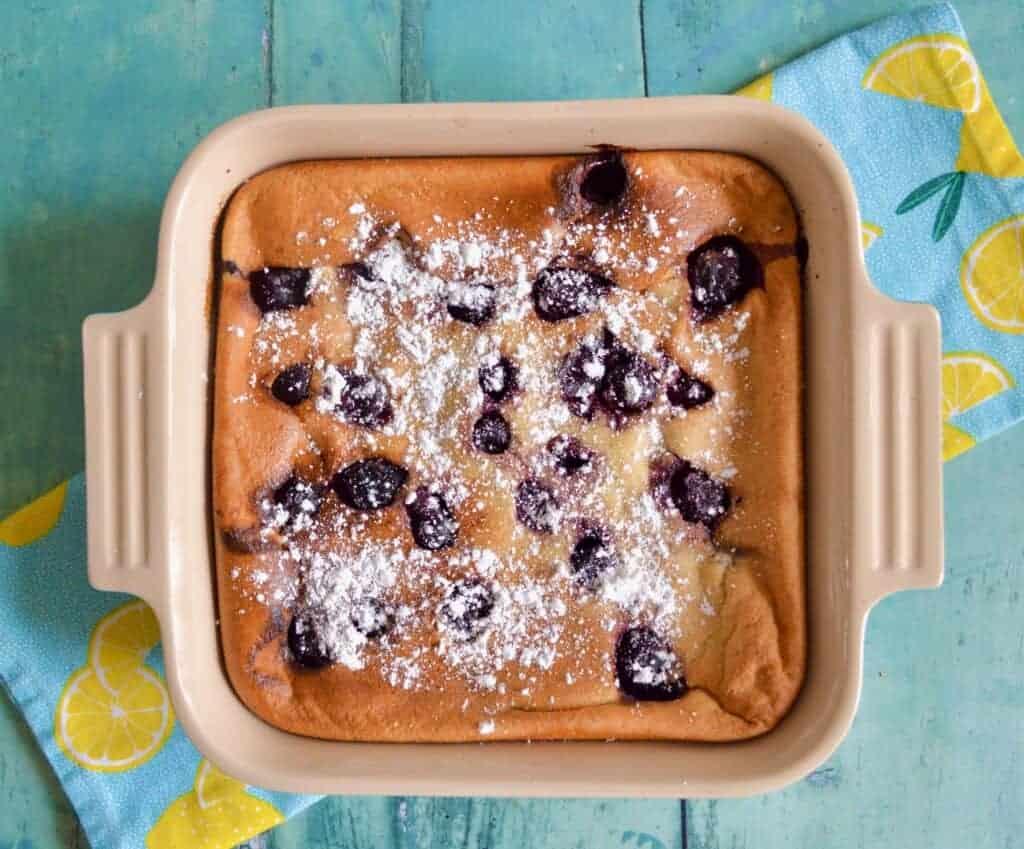 Gluten and Dairy Free Cherry Sponge Pudding