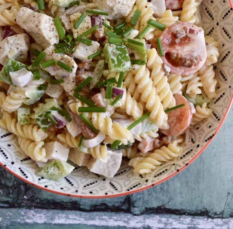chicken club pasta salad 1