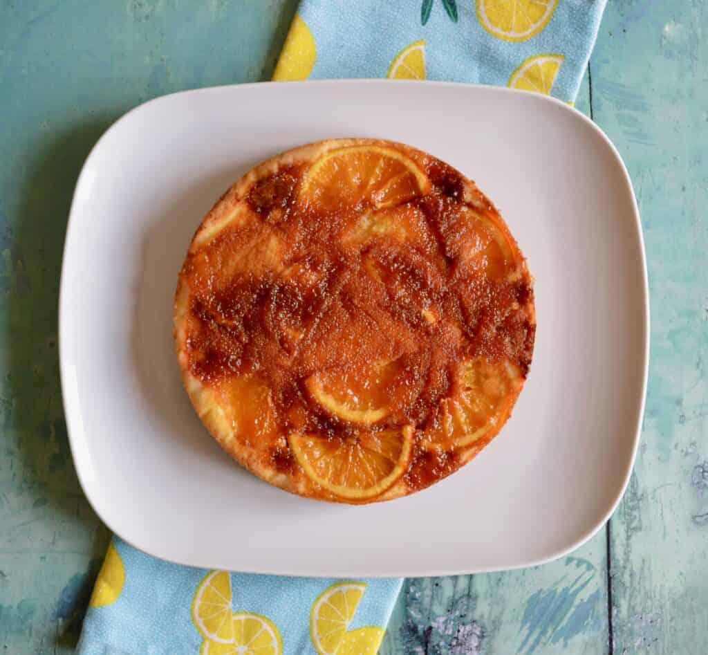 Gluten and Dairy Free Caramelised Orange & Grapefruit Cake