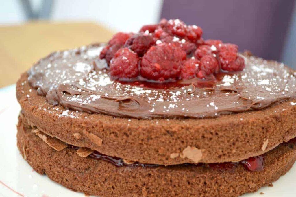 Gluten and Dairy Free Raspberry Chocolate Cake