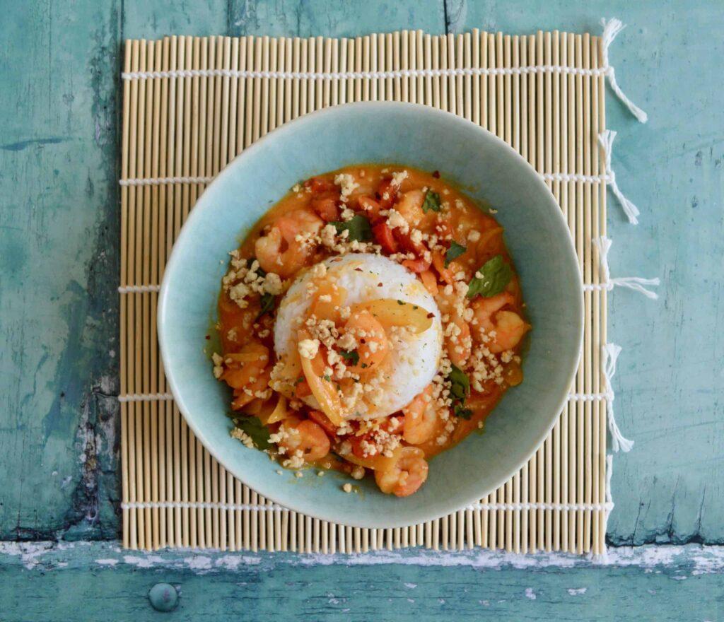 prawn panang curry