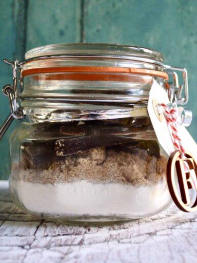 brownie gift jar