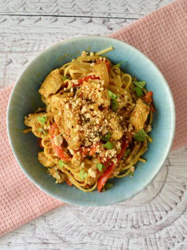 satay noodle bowl