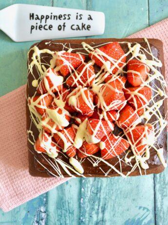 strawberry chocolate cake 1