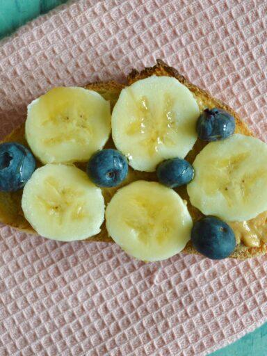 banana almond toast
